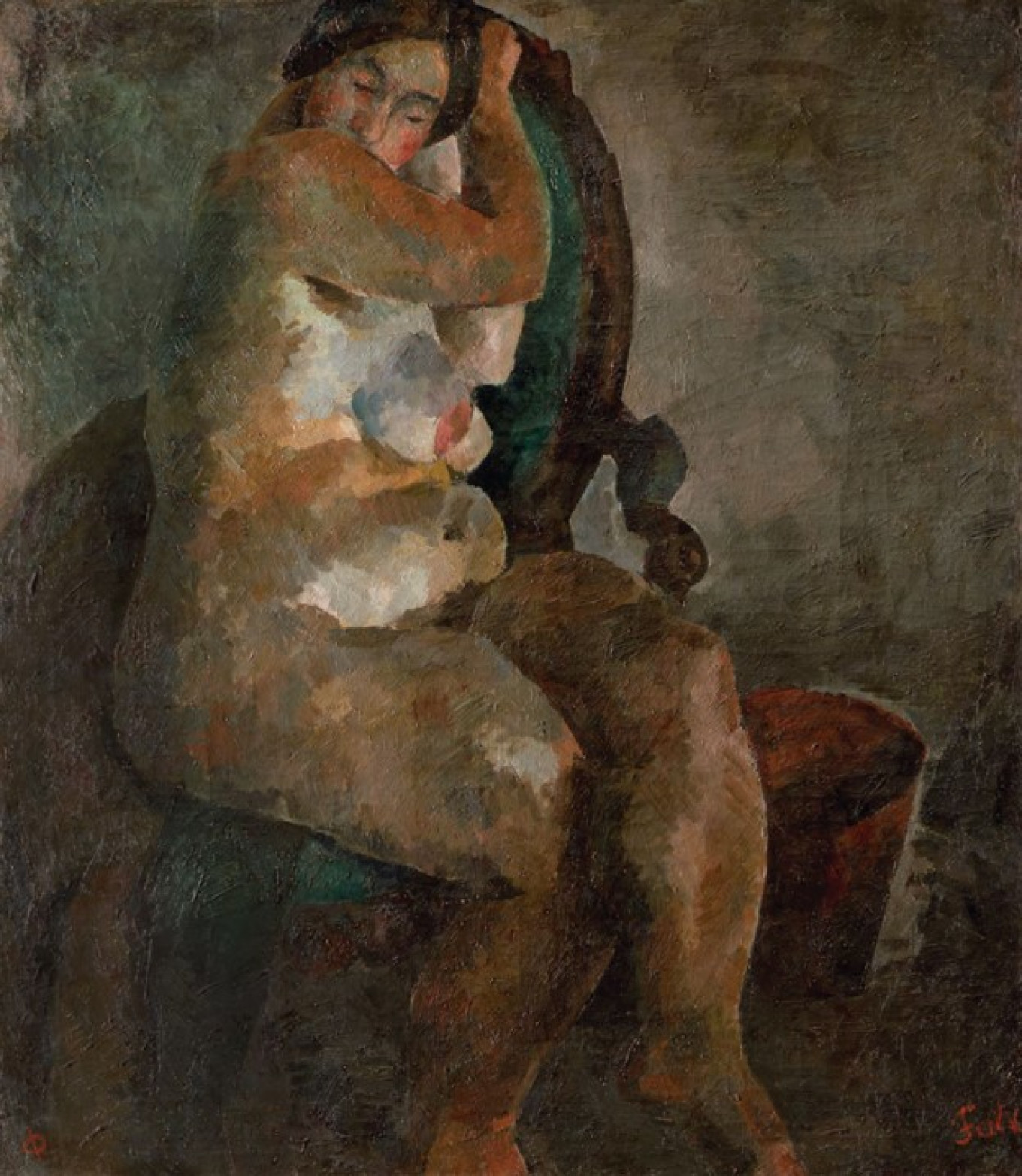 """""""Nude in an Armchair,"""" 1922-23 State Tretyakov Gallery"""