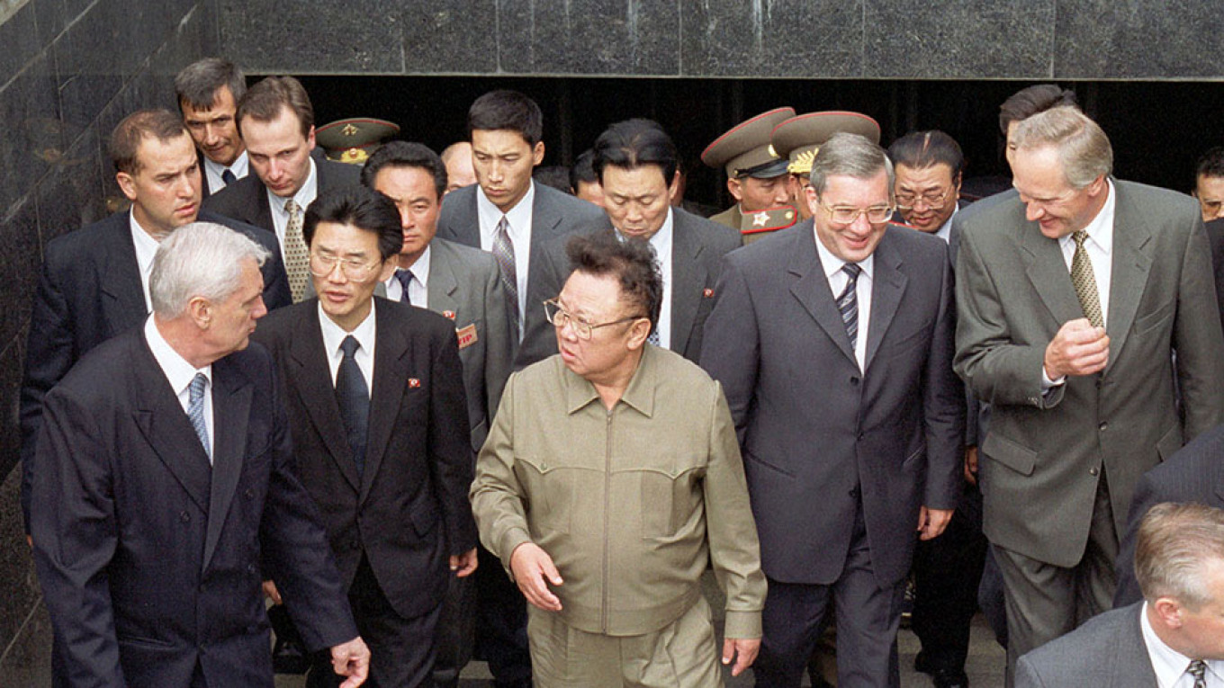 Russian City Installs Memorial To North Korea S Kim Jong Il The Moscow Times
