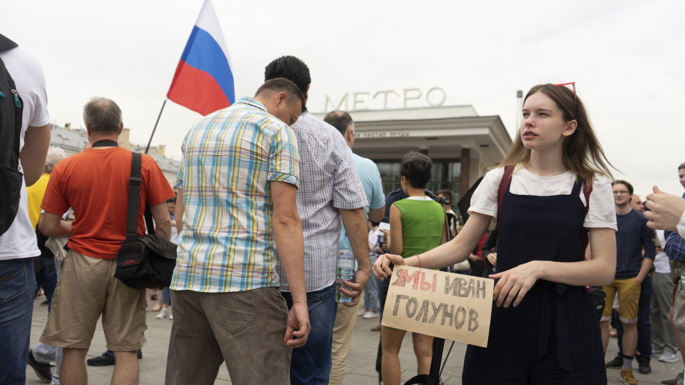 Police Detain Over 500 In Moscow During Protest Over Reporter S