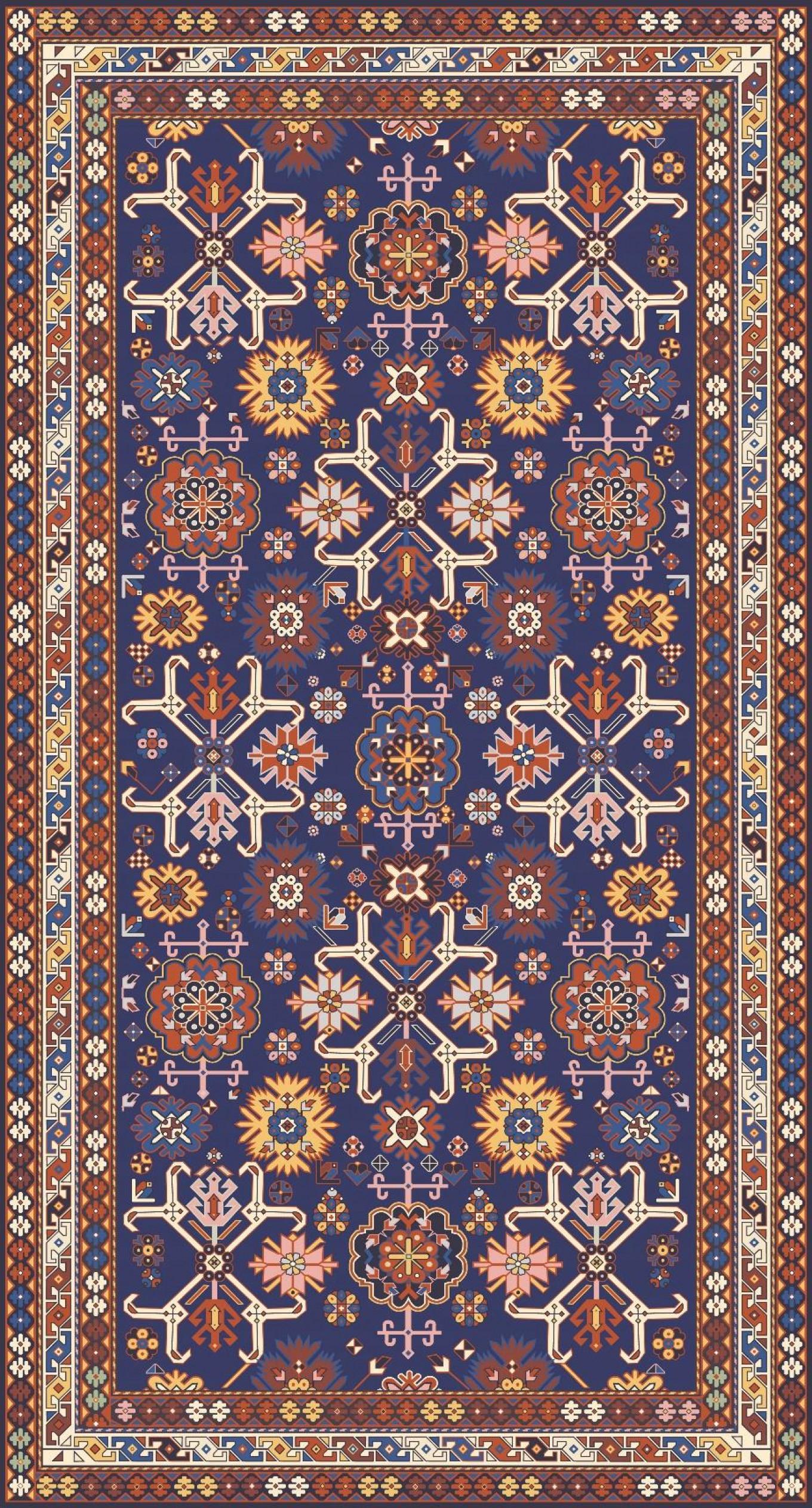 A carpet woven in 19th-century Dagestan. Ornamika / mosaika.io