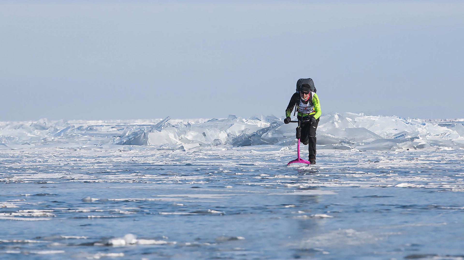 Russia Hosts Bone-Chilling Ice Marathon on Lake Baikal