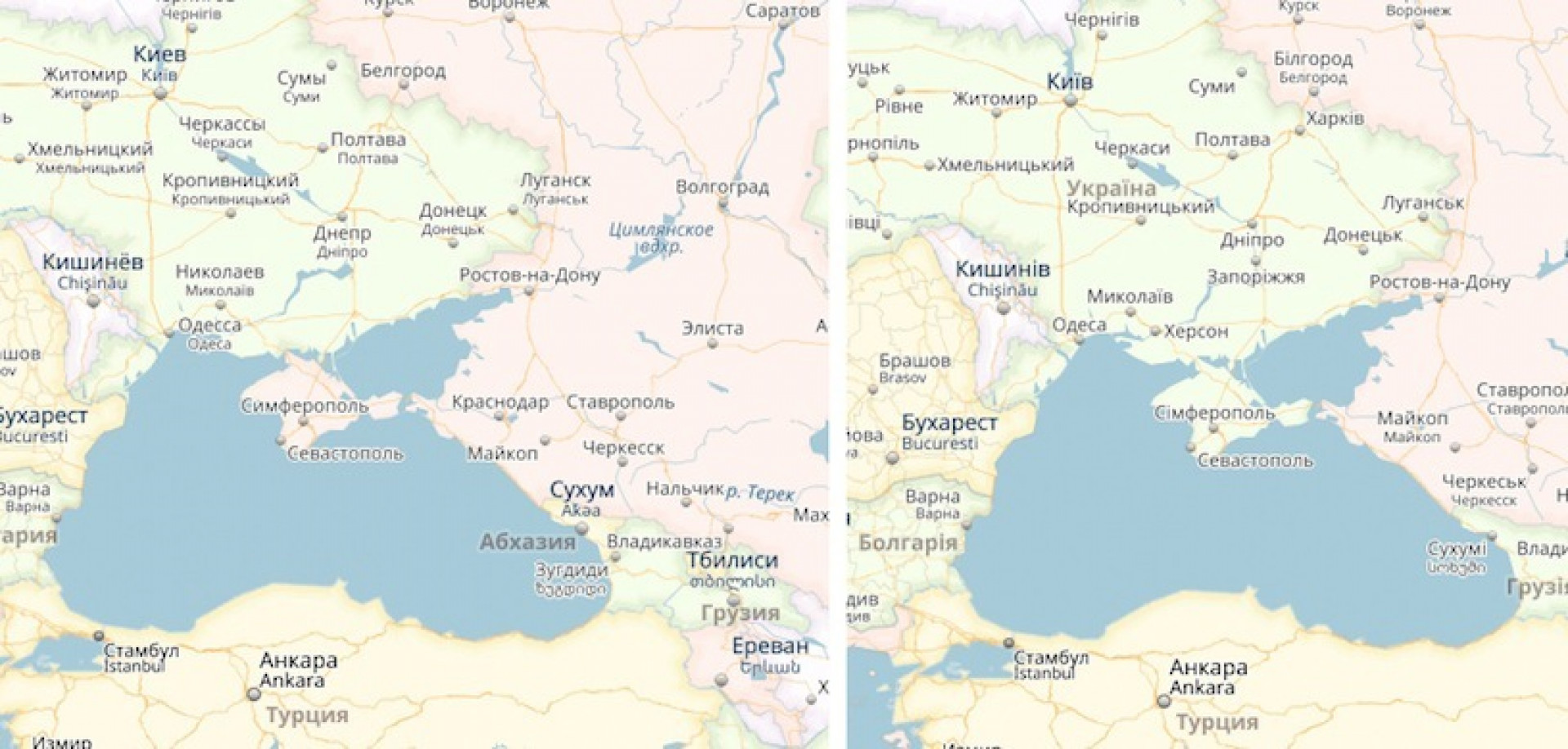 Crimean Map Scandals Choice Between Offending Russia Or Ukraine