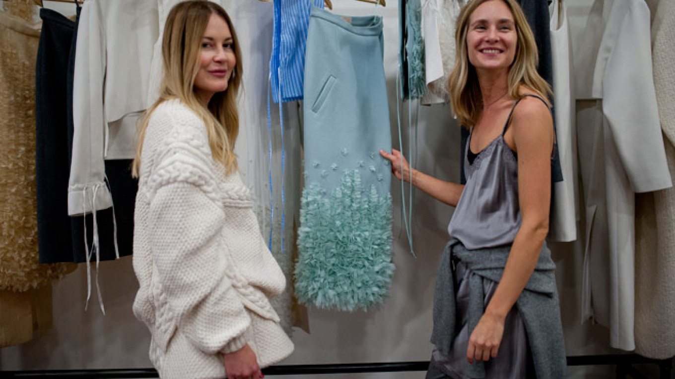 b9441a65196 Julia and alisa ruban in their moscow showroom all the clothes are produced  in russia with