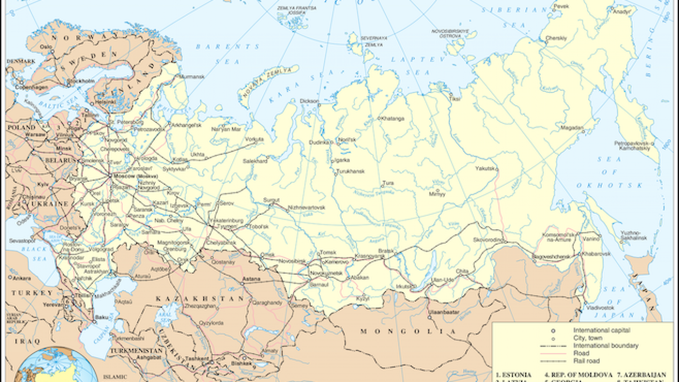 Map Of Russia In Russian.Russian Lawmakers Dispute Maps Of Russia That Lack Crimea