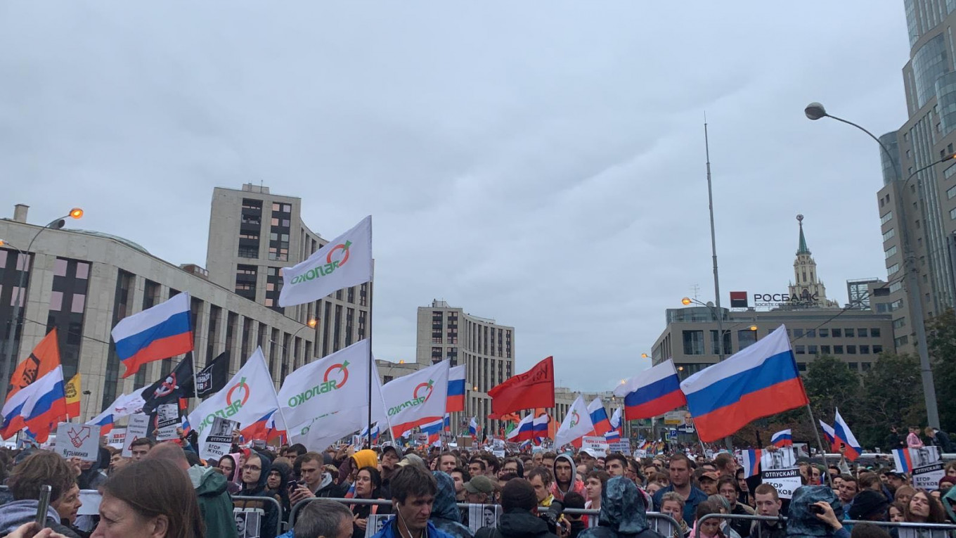 More Than 40,000 Protest for Fair Elections in Moscow