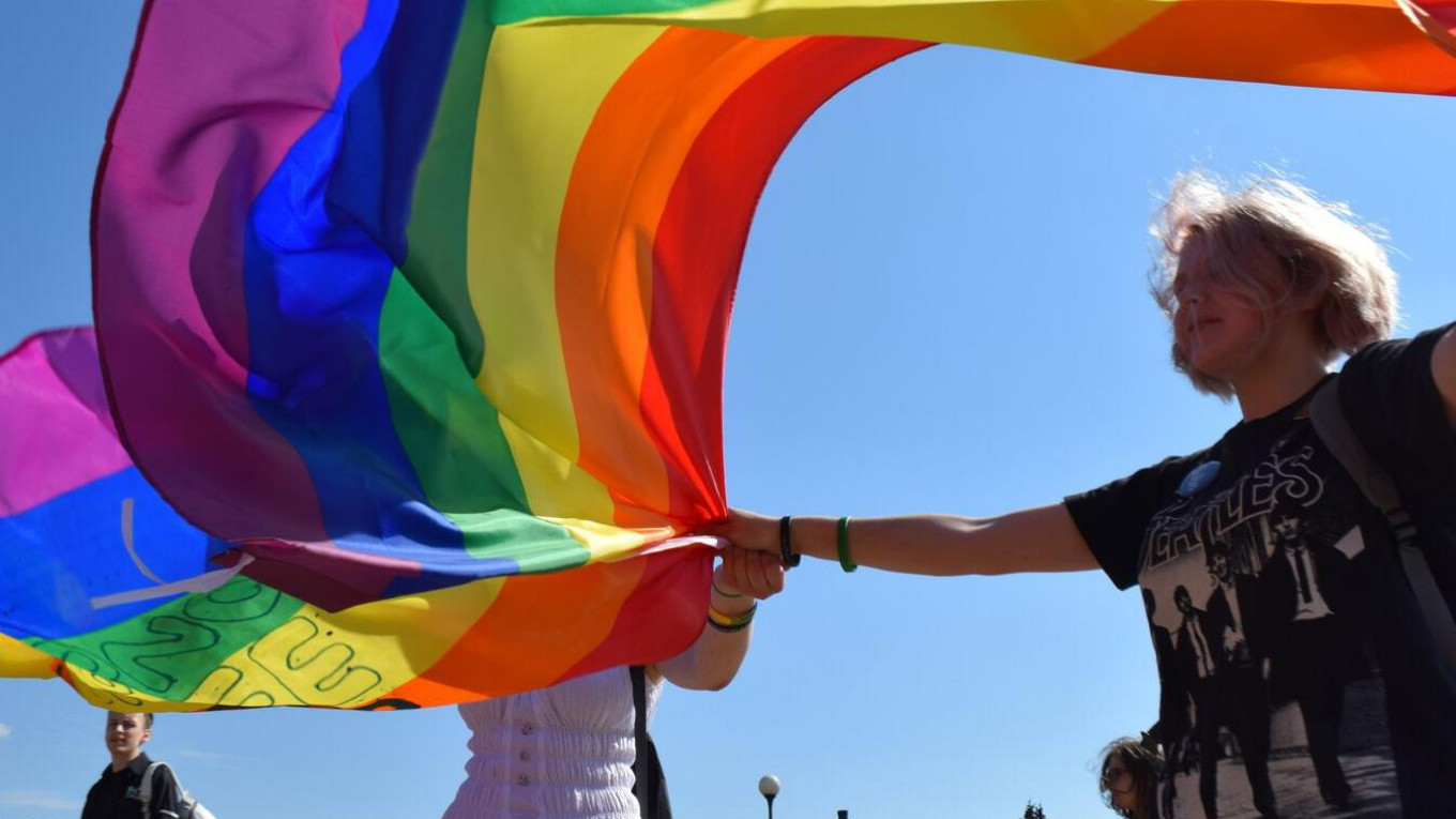 Harassed LGBT Activists Rally in St  Petersburg