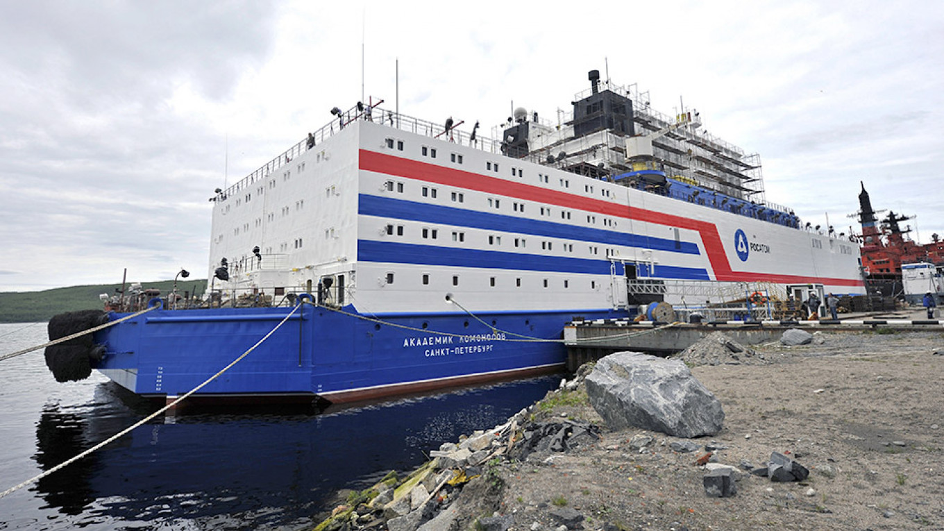 Russia's First Floating Nuclear Power Plant Sets Sail in Arctic Amid Environmental Fears