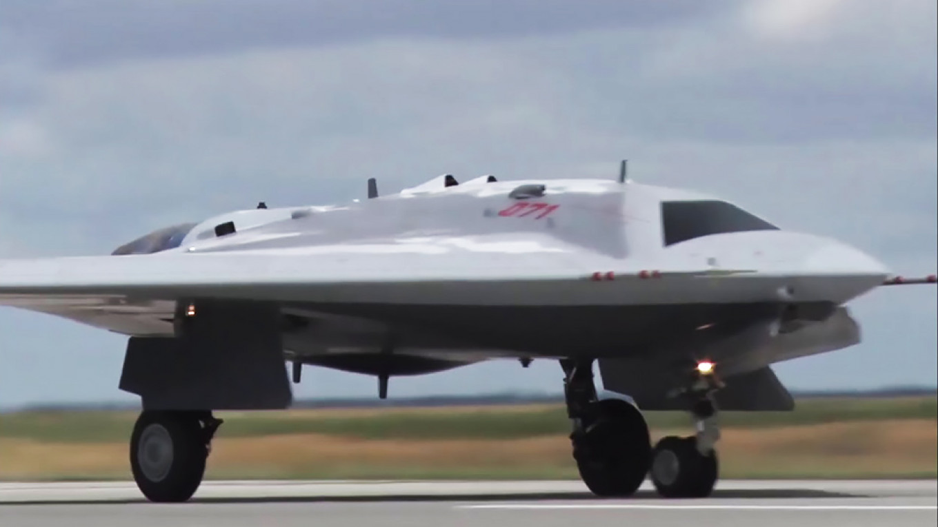 Russian Military Unveils Stealth Drone's Maiden Flight