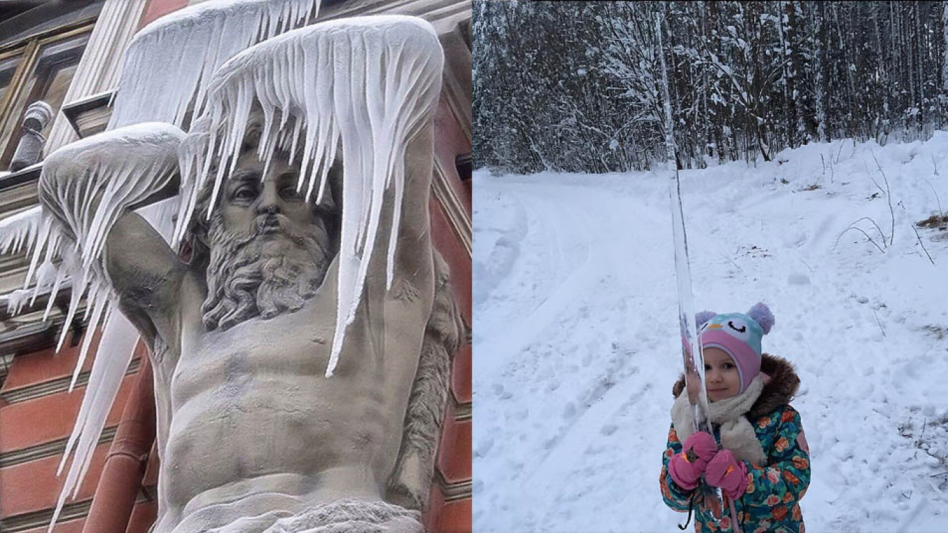 Giant Icicles Threaten And Dazzle Russia In Photos The Moscow Times