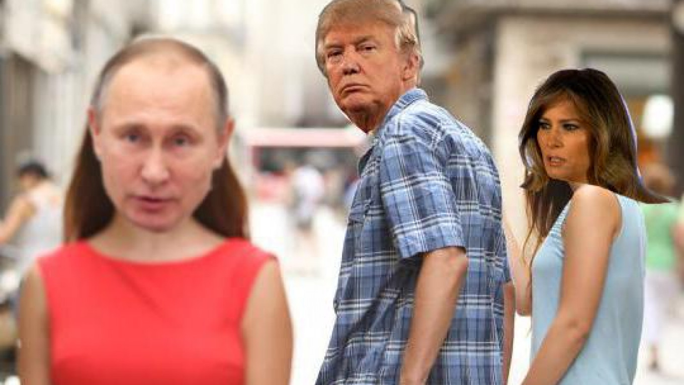 So Trump Isn T Putin S Bride There S A Meme For That