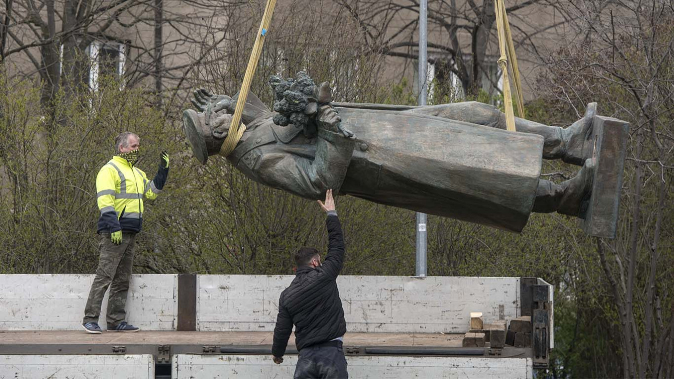 While Konev is regarded as a hero in Russia, many Czechs see him as a symbol of Soviet-era oppression. Michal Cizek / AFP