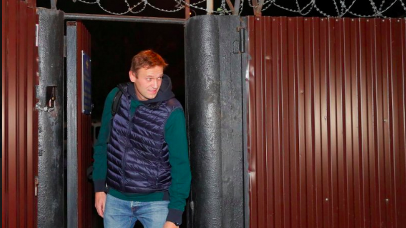 Image result for Russian opposition leader Navalny released from jail