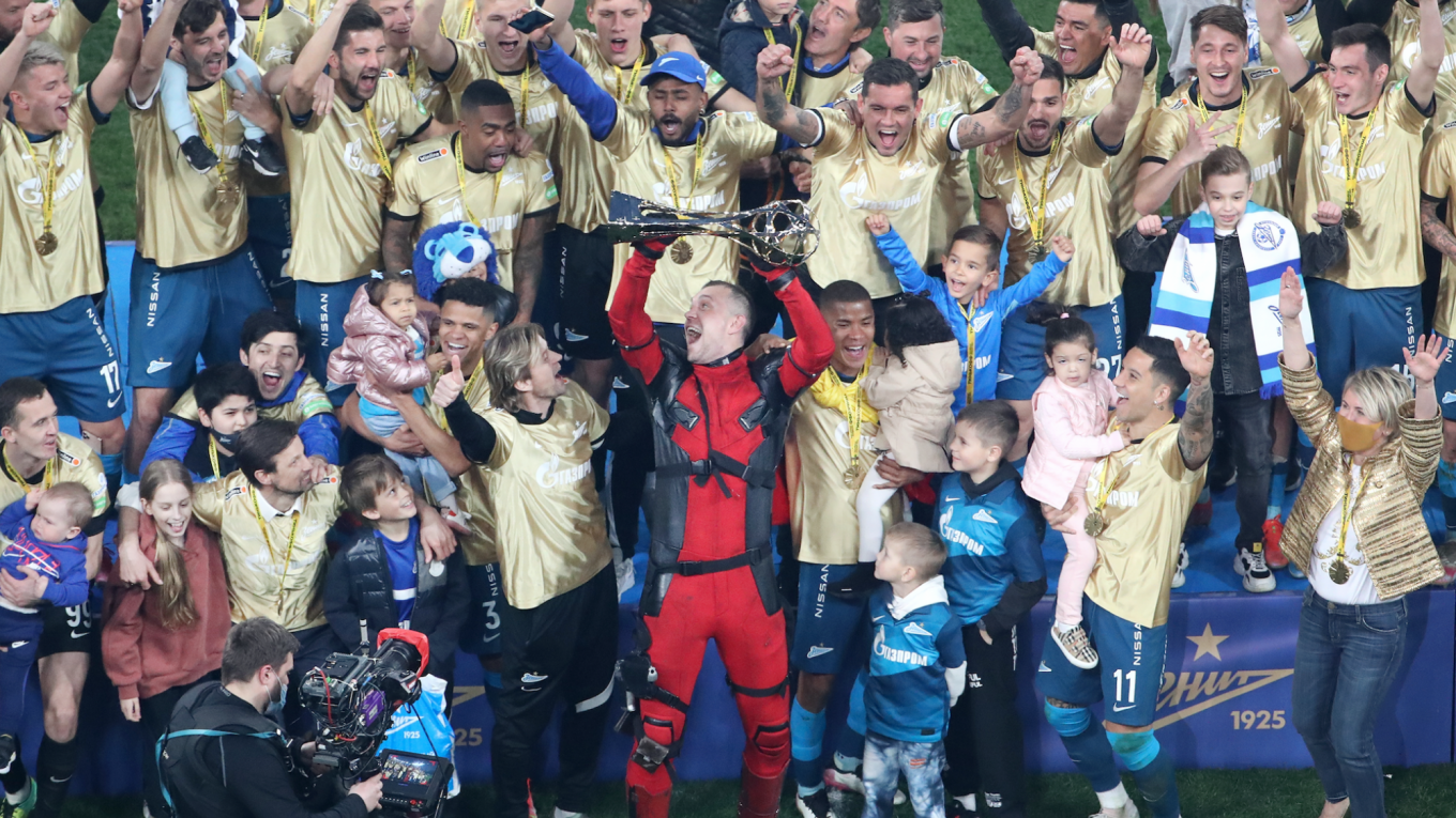 Zenit Captain Dzyuba Dresses as Deadpool to Claim 3rd Russian Title - The  Moscow Times