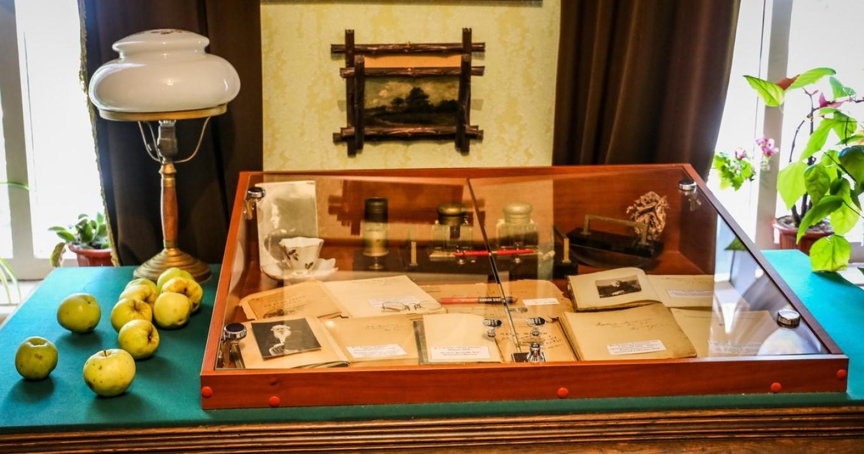 Антоновка лежит на столе в музее Ивана Бунина в Ельце. Юлия Скопич / MT